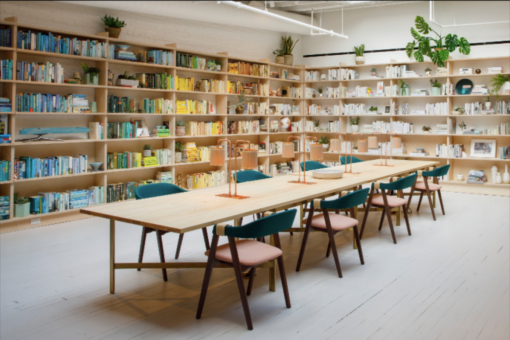 Coworking space at The Wing, Most Beautiful CoWorking Spaces in New York City