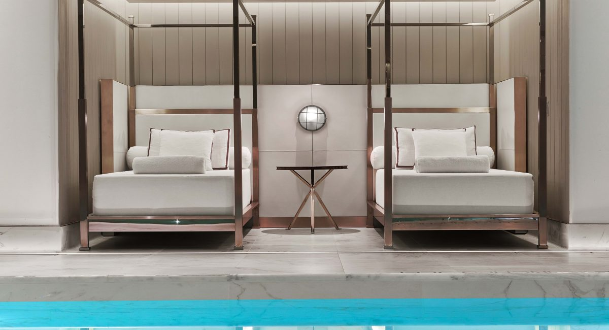 Daybeds at Baccarat Spa