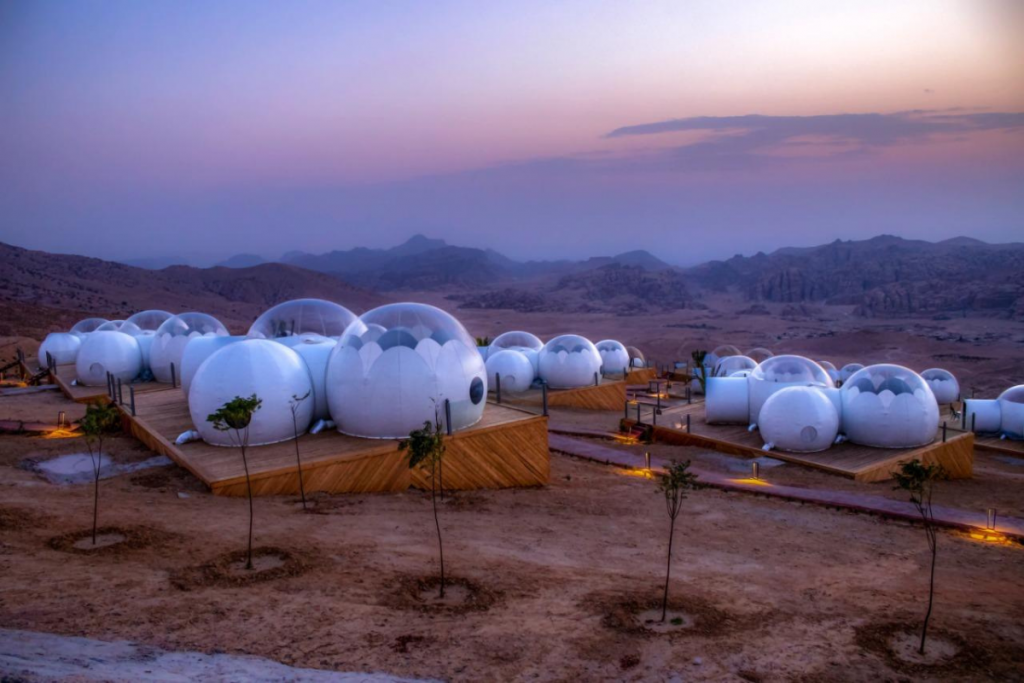 experiential resorts bubble luxotel petra