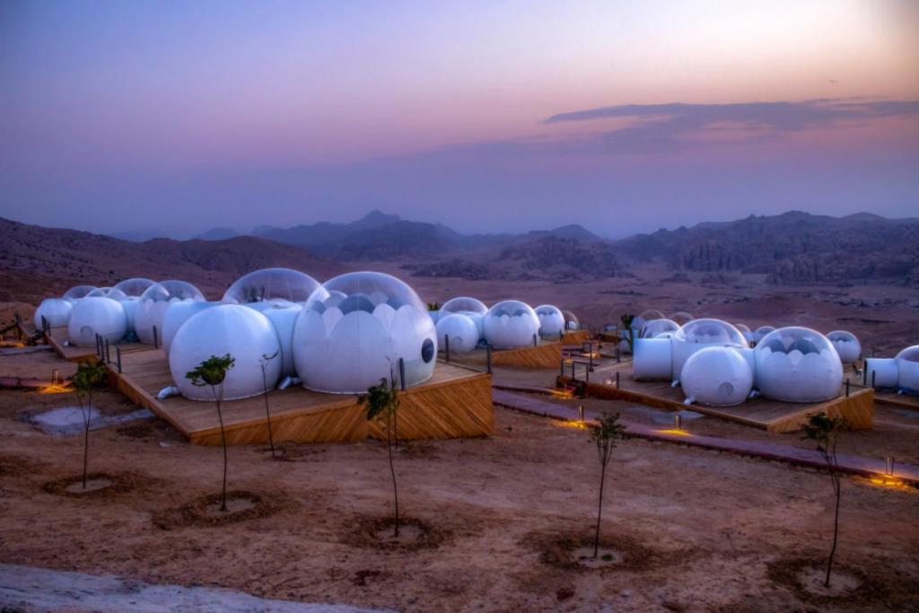 experiential resorts bubble luxotel petra
