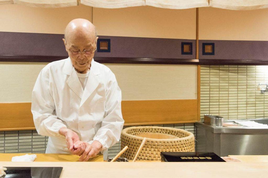 Sashimi in Tokyo suikiyabashi jiro
