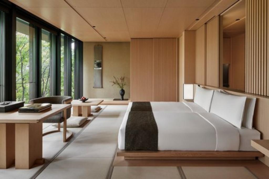 Japanese Minimalist hotel in Kyoto Japan