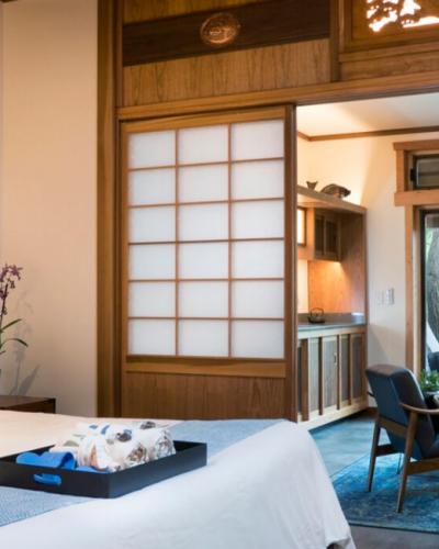 Ten Thousand Waves Minimalist hotel room