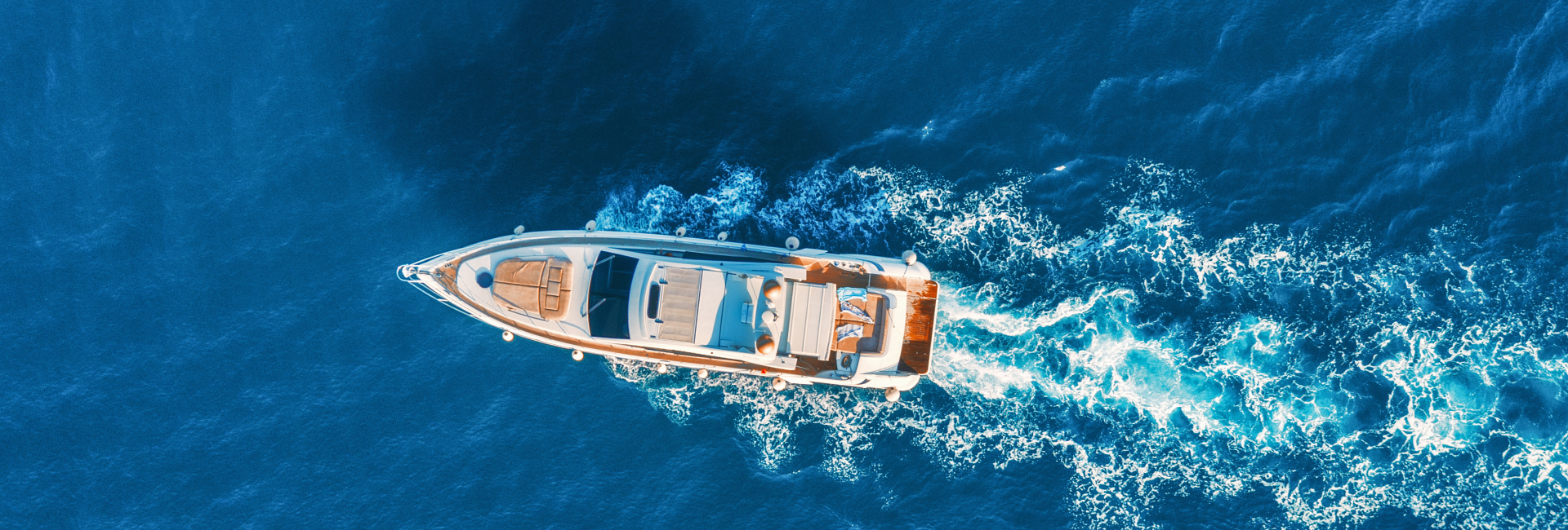 drone shot of a Luxury Yacht Vacation